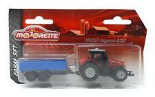 Majorette Farm Serie Model Car metal Tractor Massey Ferguson 8737 with Trailer