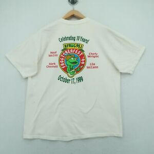 Vintage 95.1 Radio Station KFROG T-Shirt Sz XL Men's Short Sleeve Frogtoberfest