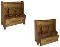 Portapipe 7 posti con cassetto per accessori tabacco in legno porta pipa