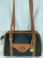 DOONEY and BOURKE Authentic Vintage Black and Tan Leather Satchel Shoulder Bag
