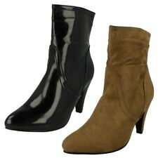 Stiletto Ankle Solid Zip Women's Boots