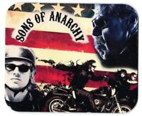 Sons Of Anarchy Earbuds /& Mic Black//Red Anarchy Symbol SOA iPhone