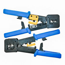 EZ-RJ45 Cat5e Cat6 Connector Crimping Tool End Pass Through Crimp Cutter RJ11
