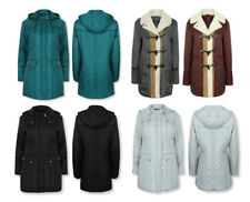 Polyester Knee Length Quilted Coats & Jackets for Women