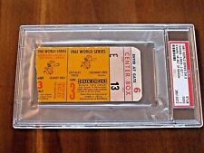 1961 YANKEES WS WORLD SERIES GAME 3 TICKET STUB MARIS HR # 62 BERRA HIT PSA/DNA