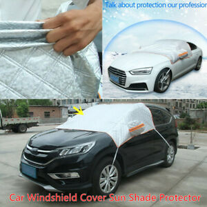 1*Aluminum Flm Car Windshield Cover Sun Shade Protector Winter Snow Frost Guard