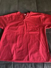 Dickies Scrub Top Size Small Solid Red top