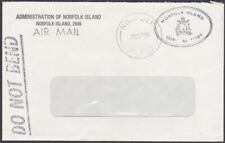 NORFOLK IS 1990  Official cover - window envelope...........................M642