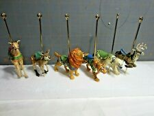 "2005 Hallmark QX8481 ""Carousel Ride""  Display Stand with 8 Animals"
