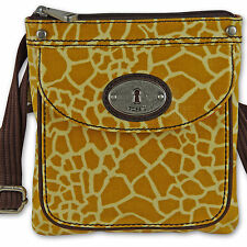 FOSSIL Handtasche Schultertasche Damentasche Umhängetasche KEY-PER MINI Giraffe