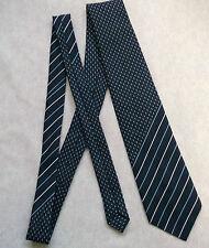 Slim Retro Mod Tie Vintage 1960's 1970's NAVY BLU BIANCO krawatten traffico