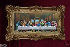 Barock Gemälde letztes Abendmahl 12 APOSTEL ULTIMA CENA Bild Repro Antik 96x58
