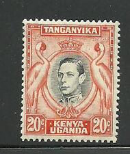 Album Treasures Kenya, Uganda, Tang. Scott # 74c 20c George VI Cranes MLH
