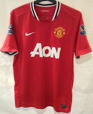 Manchester United 2011-2012 Home Shirt 10-11 Champions Arm Patches Size L