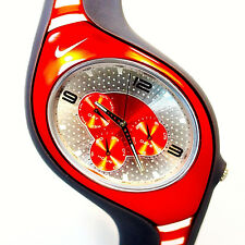 Nike Triax Swift 3I Rare Unworn 3 Red Eyes On Silver Dial Watch WR0091 $119