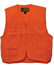 YOUTH Medium ORANGE HUNTING VEST Safety Blaze Game Bag Front Loading M 10-12 NEW