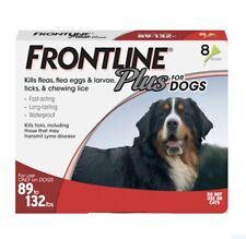 Frontline Plus Flea and Tick Treatment for Dogs (Xl Dog, 89-132 Lbs, 8 Doses)