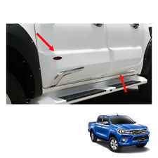Body Cladding Trim Guard Chrome White 4 Doors To Toyota Hilux Revo 2015 16 2017