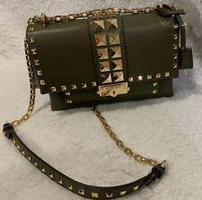 MK MICHAEL Michael Kors Cece Studded Leather Chain Shoulder Bag Olive MSRP- $458