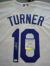 LOS ANGELES DODGERS- JUSTIN TURNER AUTOGRAPH WHITE MAJESTIC JERSEY PSA/DNA
