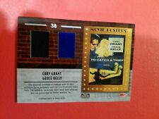 CARY GRANT PRINCESS GRACE KELLY WORN RELIC SWATCH CARD AMERICANA CATCH A THIEF