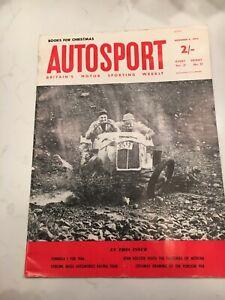 Autosport Magazine Christmas December 1963 Modena/Cutaway Drawing Porsche 904 GT