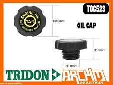 TRIDON TOC523 - OIL CAP - PLASTIC SCREW - COVER ORIFICE ENGINE OIL SUPPLY