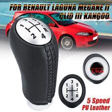 Gear Knob Shift Leather 5 Speed For RENAULT Laguna Megane 2 Clio 3 03-09 Kangoo