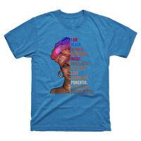 I Am Black Woman Black History Month 2019 Men's Tee Cotton Short Sleeve T Shirt