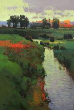 """NEW VYTAUTAS LAISONAS ORIGINAL CANVAS """"Autumn is Coming"""" Landscape OIL PAINTING"""