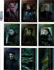 Game of Thrones Season 7 complete Base Foil Parallel 81 card set +Wrapers + p 1