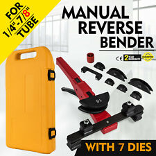 "Multi Manual Pipe Tube Bender Tool Kit 1/4""-7/8"" With 7 Dies Local Potable CA"