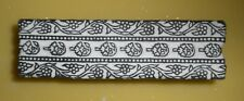 India Old Wood Batik Stamp, Floral Edge Pattern, for Printing, Fabric, Crafts #1