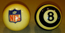 NFL CUE BALL & REFEREE 8 BALL ARAMITH SET - BRUNSWICK BILLIARDS CHALK - 07004 NJ