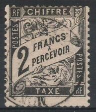 """FRANCE STAMP TIMBRE TAXE 23 """" TYPE DUVAL 2 FRANCS NOIR """" OBLITERE A VOIR  M152"""
