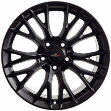 Set (4) 17x9.5 Corvette C7 Z06 Style Matte Black Replica Wheels Rims 5x120.65