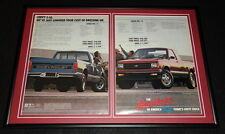 1987 Chevy S-10 Pickup Framed 12x18 ORIGINAL Advertising Display