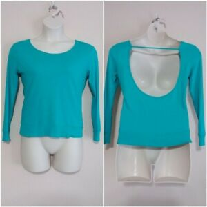 PINK Victoria's Secret Cropped Long Sleeve Open Back Athleisure Top EUC - Sz. XS