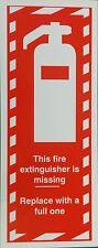 Questo estintore manca la firma di plastica rigida stampata 120x 300 mm di sicurezza