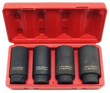 "4-pc 1/2"" Drive Deep Spindle Axle Nut Socket Set - Metric 30mm 32mm 34mm 36mm"