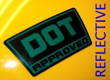4x REFLECTIVE ~ DOT Approved Motorcycle Helmet Stickers | Hard Hat Decals Labels