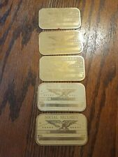 5 Metal Us Social Security Id Cards Eagle