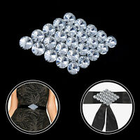 Rhinestone Motif Silver Crystal Sew on Applique Patch Perfect for Wedding Dress