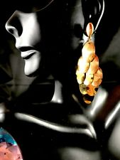 NWT SENSATIONAL R.J. GRAZIANO GLOSSY GOLD-TONE DANGLE STATEMENT CLIP EARRINGS