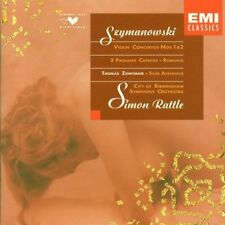 Szymanowski: Violin Concertos No 1 & 2, 3 Paganini Caprices, / Rattle, Zehetmair