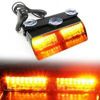 16LED Flashing Dash Light 12v Lightbar Truck Recovery LED Strobe beacon Amber