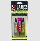 SOLAREZ Fly Tie UV Cure Resin - 3 Pack Starter Kit - Thin Hard, Thick Hard, Flex