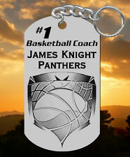 Basketball Coach Keychain Gift, Personalized with their Name & Team!
