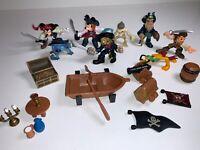 Disney Pirates Of The Caribbean Mini Toy Figures Set Mickey Minnie Mouse Stitch