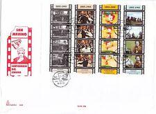 FDC SAN MARINO BUSTONE MINIFOGLIO 1995 CAPITOLIUM  PRIMO GIORNO FILM CINEMA 16V